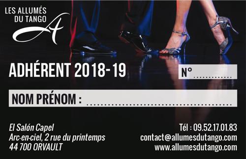 CARTE ADHÉRENT 2018_19