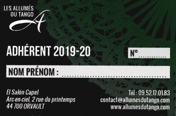 Carte adhésion 2019-20