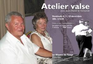 Flyer atelier valse JM et Fernande 10 x 15