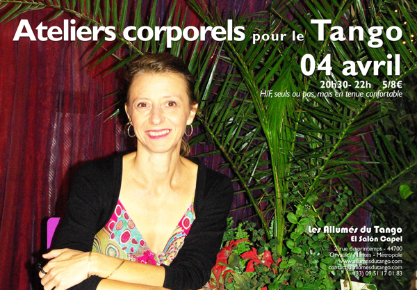 flyer atelier corporel Christelle du 4 avril