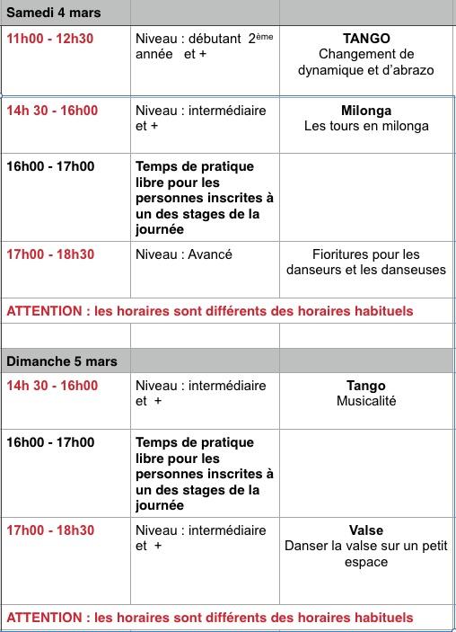 Cours Samedi 4 mars