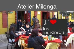 Atelier Milonga – vendredi 15 novembre.