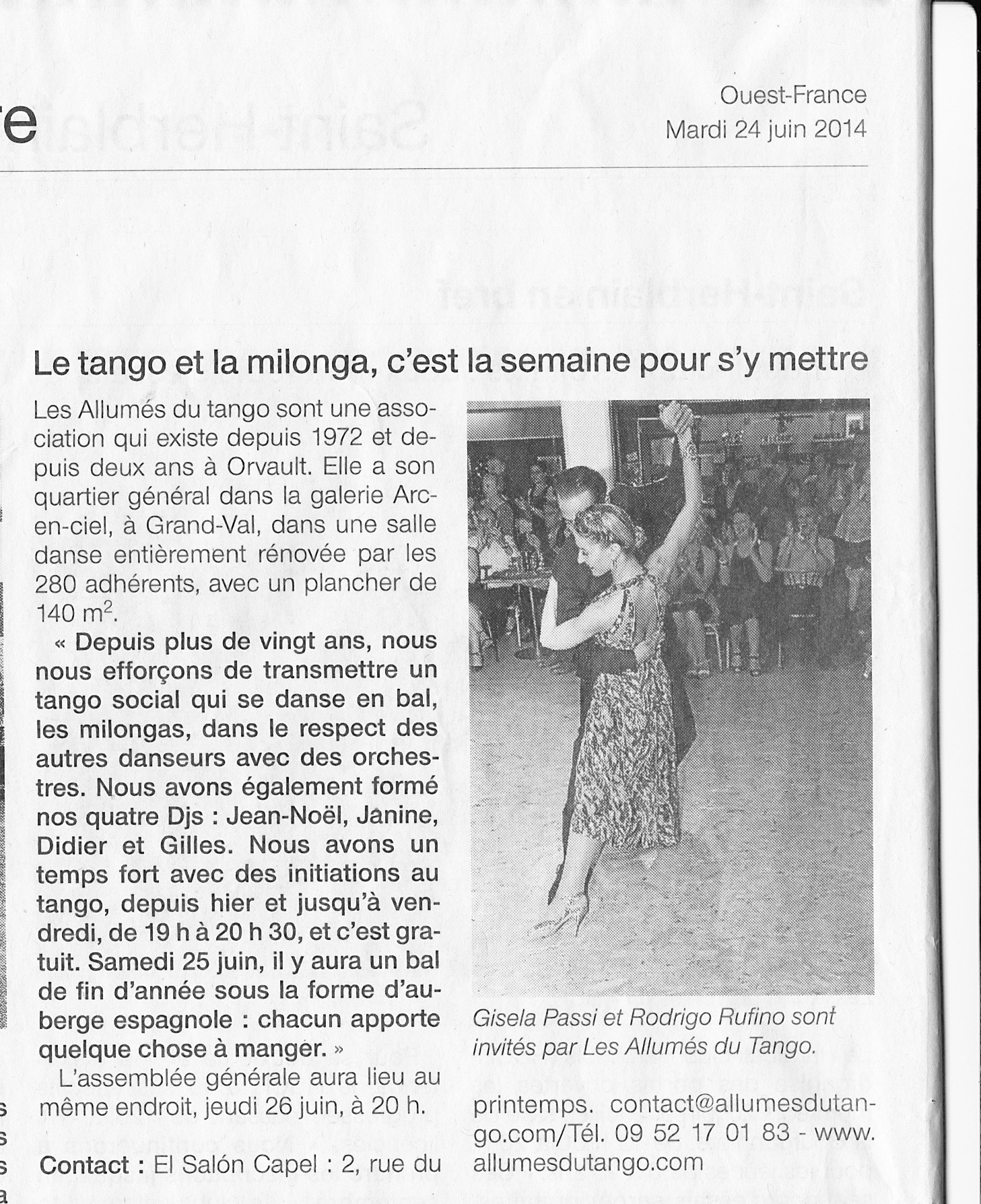 OUEST FRANCE 0614